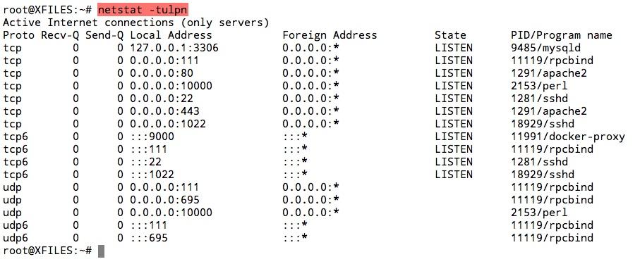 Vérifier que tous vos ports soient bien en écoute suite à la mise à jour avec la commande netstat -tulpn