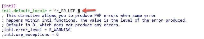 Modification des paramètres régionaux dans PHP