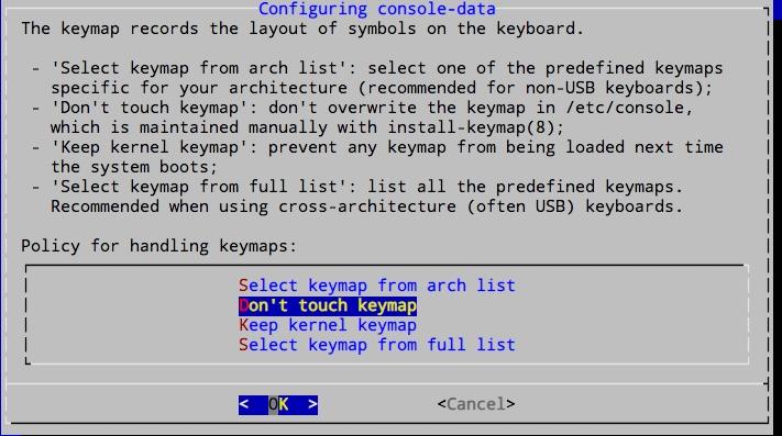 Modification de fichiers existants lors d'une montée de version Ubuntu. Répondre non la plupart du temps pour conserver l'existant.