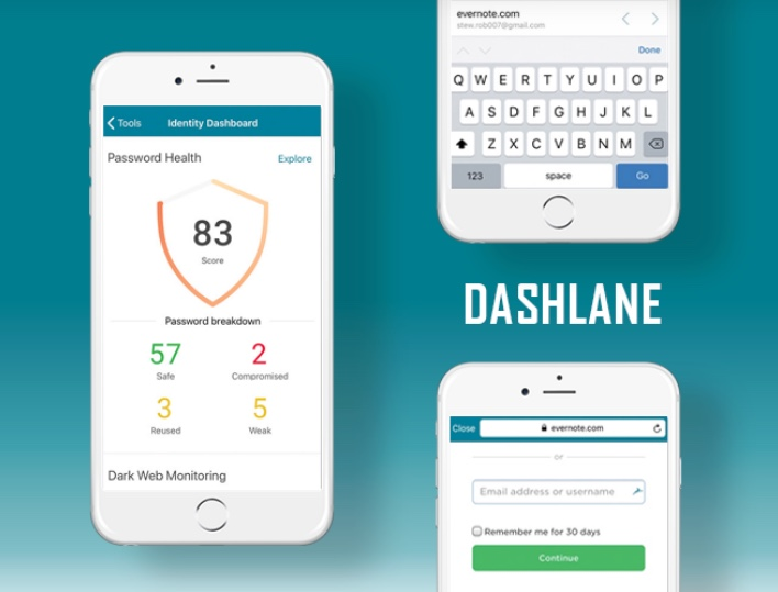 Dashlane une application indispensable sur smartphones.