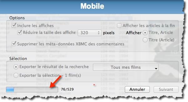 Exporter votre base Filmotech sur un smartphone