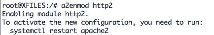 Activer le module Apache mod_http2
