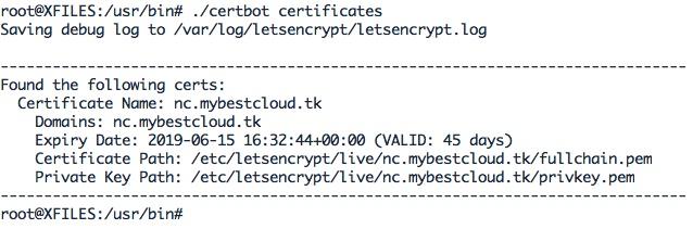 Vérifier la date d'expiration de vos certificats Let's Encrypt