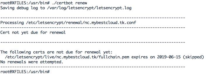 Renouvellement d'un certificat let's Encrypt avec Certbot
