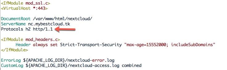 Mettre à niveau HTTP/1.1 vers HTTP/2 pour votre instance Nextcloud