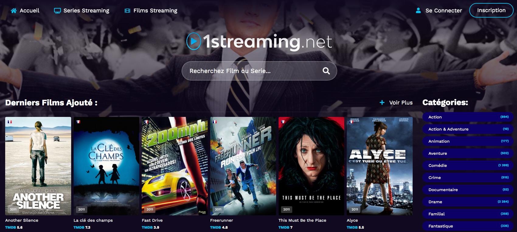 Regardez en streaming des séries et des films gratuits sur 01Streaming.net. Vivez votre passion du streaming gratuitement et de la meilleure qualité possible !