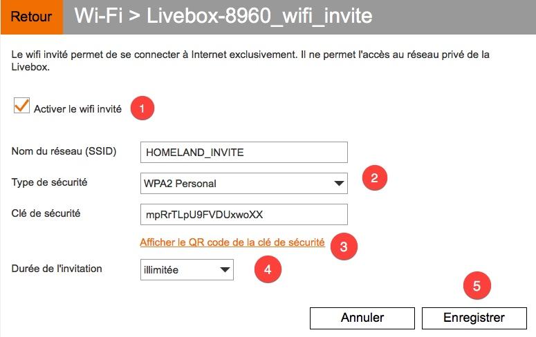 Activer le réseau WI-FI invité de votre Livebox.