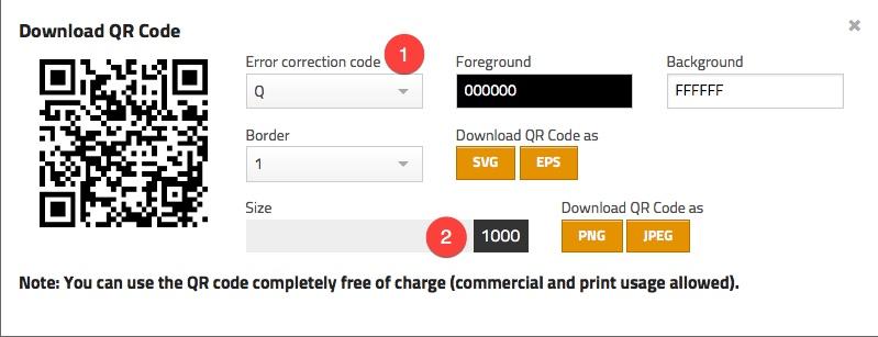 Paramétrer votre QR Code