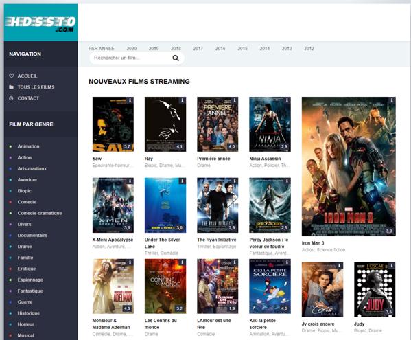 Site de streaming vidéo hdssto.com