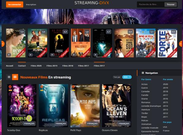 Visionner des film en streaming sur streaming-divx.org