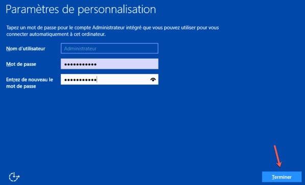 Définir un mot de passe pour le compte Administrateur local de Windows Server 2016