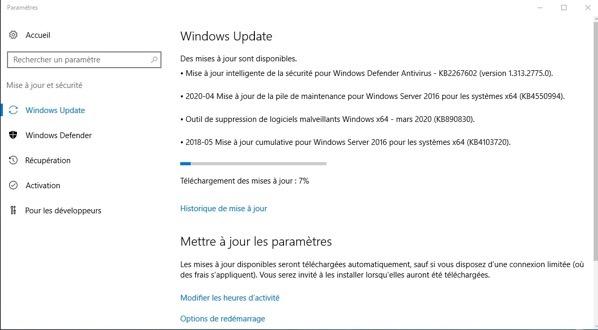 Utiliser Windows Update pour mettre à jour votre serveur