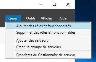 Ajouter un rôle à votre Serveur Windows 2016