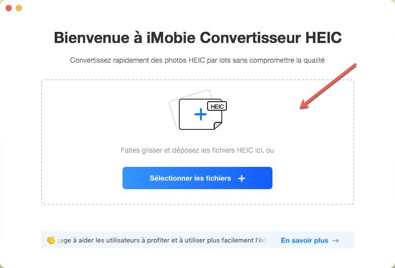 Utiliser le logiciel iMobie Convertisseur HEIC en App.