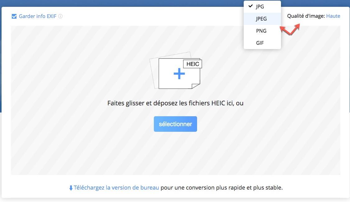 Utiliser le logiciel iMobie Convertisseur HEIC en ligne