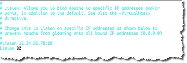 Activer les hôtes virtuels dans le fichier http.conf