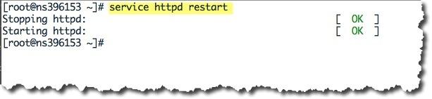 Redémarrer le serveur Apache pour la prise en compte des Virtual Hosts dans le fichier http.conf