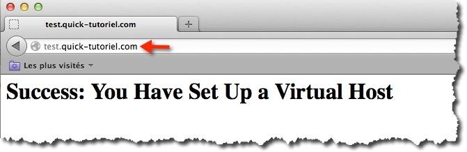tester vos virtual hosts