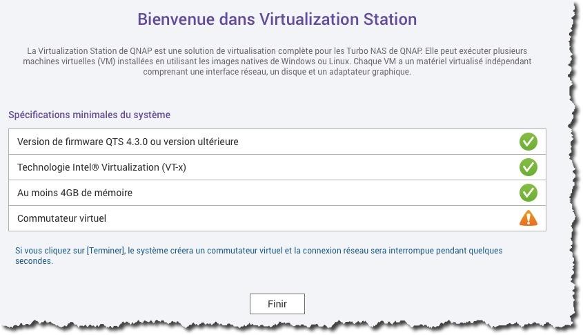 Installation de la Virtualization Station depuis l'APP Center de votre QNAP