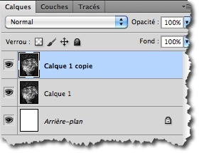 Duplication d'un calque sous Photoshop