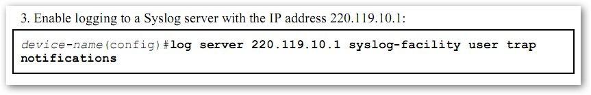 Paramétrer un serveur Syslog sur un T-Marc 250 de Telco