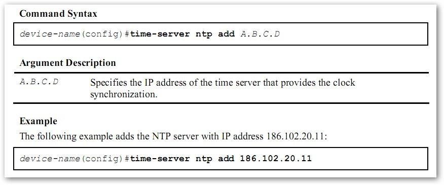 Ajouter un serveur de temps sur un T-Marc 250 de Telco