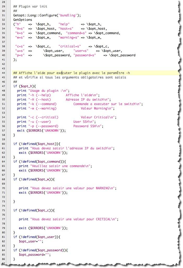 test des variables saisies par un utilisateur dans un script PERL