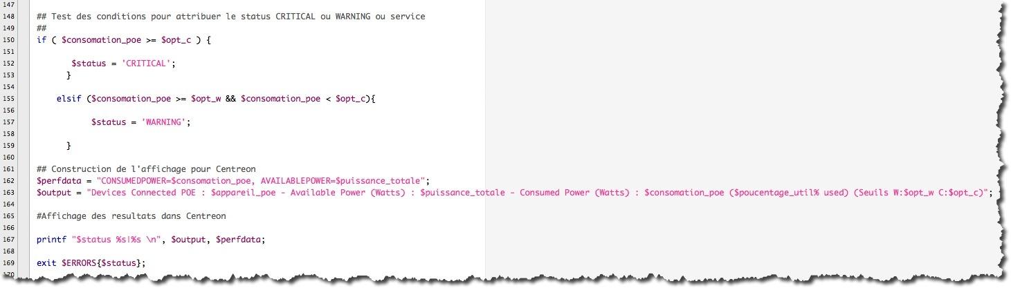 Exemple de code PERL appliqué au SNMP