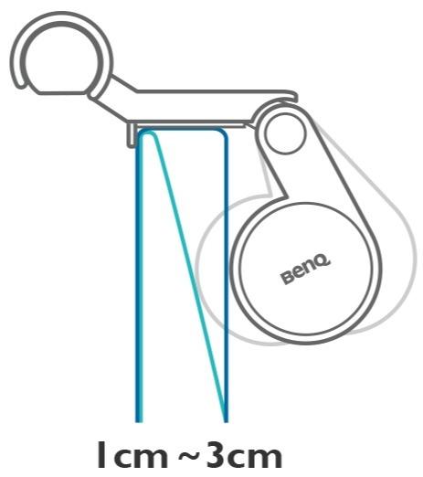 Le modèle de pince brevetée BenQ se fixe instantanément sur n'importe quel moniteur.