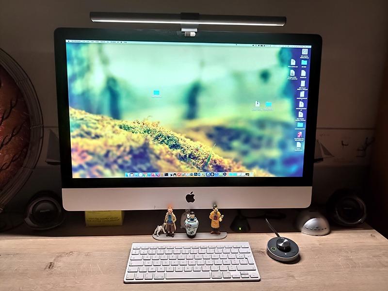 Mon installation sur mon iMac 27'' de la ScreenBar Plus de BenQ.