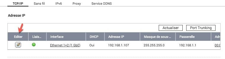 Mettre une IP statique sur votre NAS QNAP