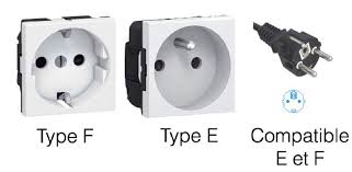 prises électrique de type F et E