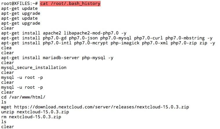 Afficher le contenu du fichier d'historique du terminal Linux