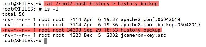 Sauvegarder le fichier history de Linux