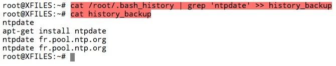Sauvegarder des commandes spécifiques du fichier history.