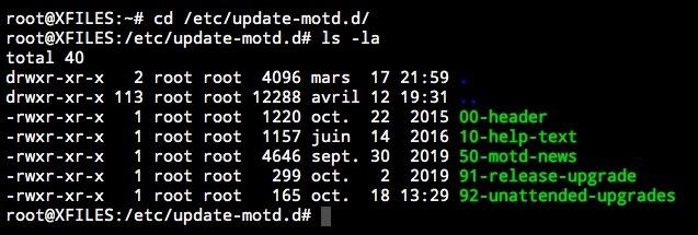 Comprendre la numérotation des fichiers dans le répertoire update-motd.d sous Ubuntu