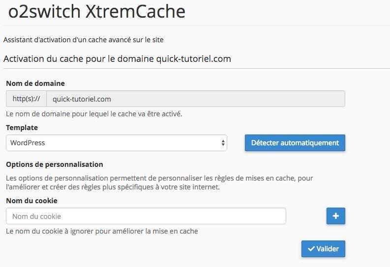 Activer XtremCache sur votre hébergement WordPress.