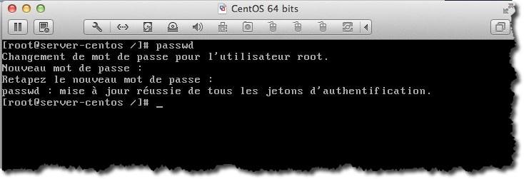 Changer le mot de passe root sous CentOS