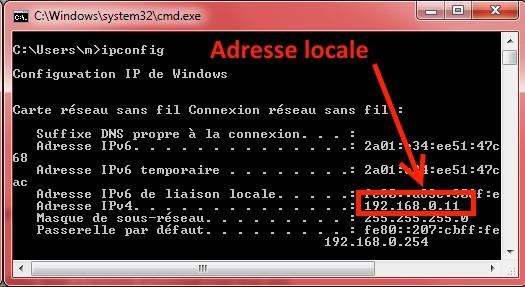 Comment localiser mon ip sous Windows ?