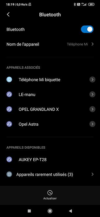 Appairer les écouteur bluetooth de Aukey sur Android