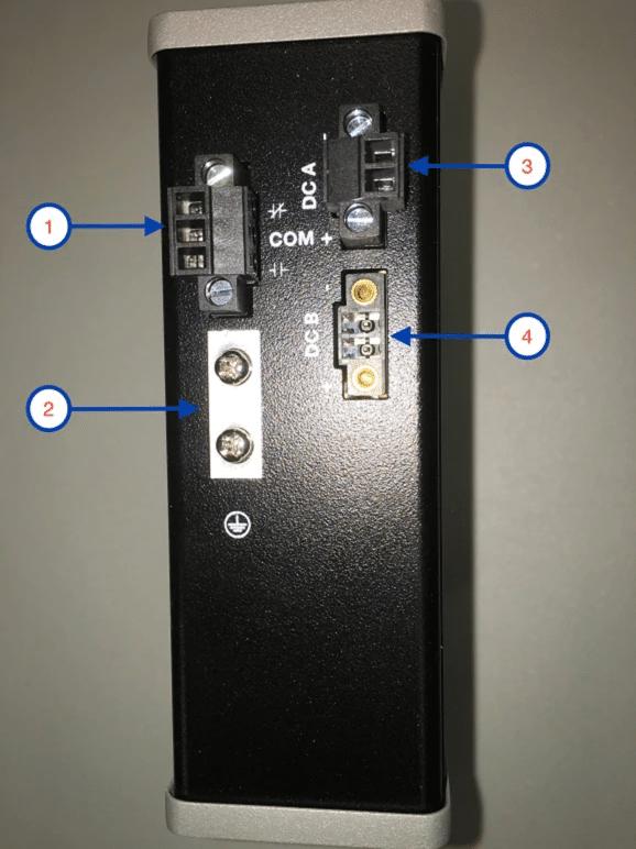 Branchement électrique switch Cisco Industrial Ethernet IE-1000