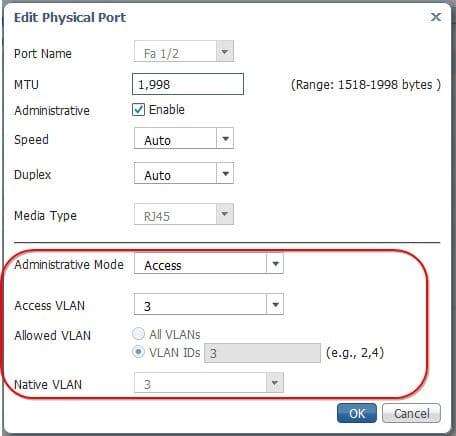 Paramétrer un vlan sur un port sur le switch Cisco Industrial Ethernet IE-1000
