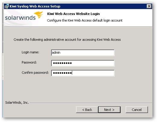 Installation de l'accès Web Access du serveur Syslog.