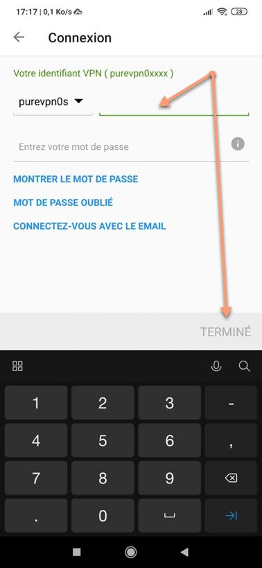 Utiliser le VPN PureVPN sous Android