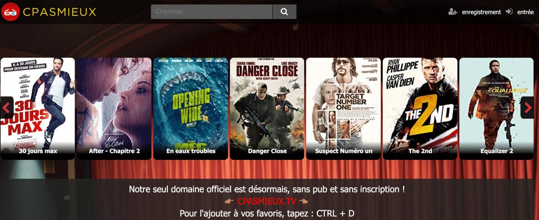 Regardez en streaming des séries et des films gratuits sur Cpasmieux.tv.
