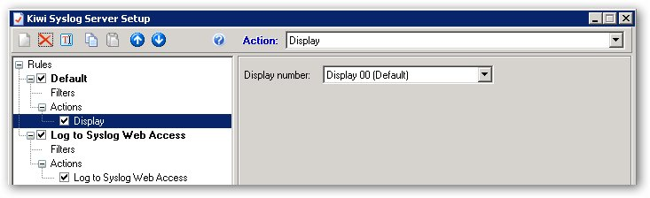 Supprimer une règle dans Kiwi Syslog Server