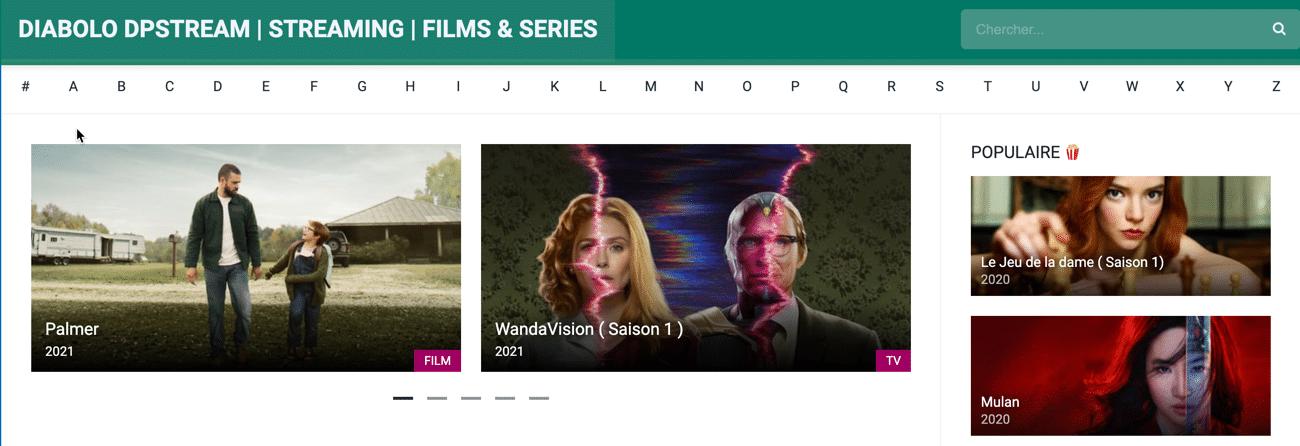 DiabloStream est un site de films de streaming qui vous permet de regarder des films sur internet sans les télécharger et sans attente.