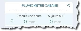 Vérifier si votre pluviomètre Netatmo apparait dans l'interface Web.