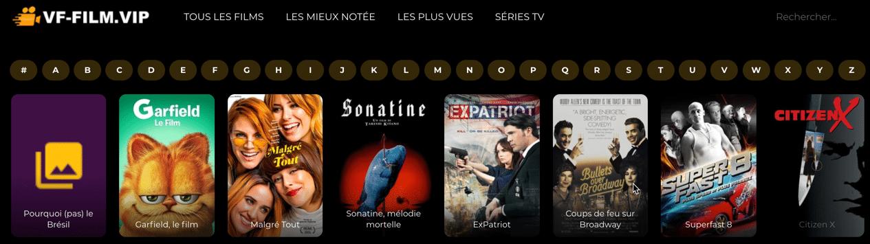 Regardez en streaming des films gratuitement sur VF-film.vip. Vivez votre passion du streaming gratuitement, sans lien mort.