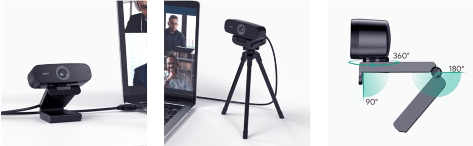 Webcam AUKEY 1080p Full HD est simple à utiliser